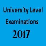 University Level Exams 2017