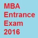 MBA Entrance Exam 2016