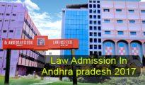 Law Admission in Andhra Pradesh 2017