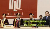 Law Admission in Delhi 2017