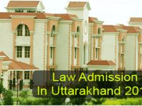 Law Admission in Uttarakhand 2017