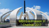 MBBS Admission in Chennai 2017