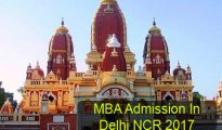 MBA Admission in Delhi NCR 2017