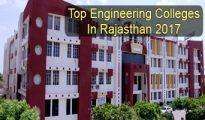 Top Engineering Colleges in Rajasthan 2017