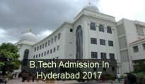 B.Tech Admission in Hyderabad 2017
