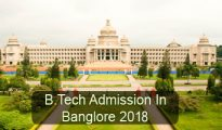 B.Tech Admission in Bangalore 2018