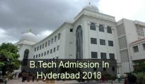 B.Tech Admission in Hyderabad 2018
