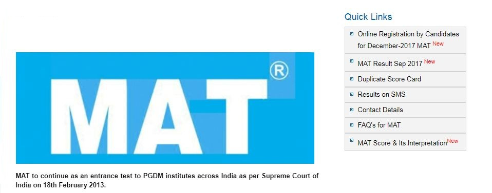 mat registration Mat 2019 exam registration, for the first mat exam for mba admission 2019-21 will be held on december 2, 2018 as paper based and on december 15 as computer based test.