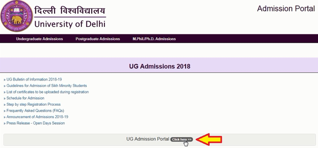 Du Ug Application Form Last Date, Now Click On The Link New Registration, Du Ug Application Form Last Date