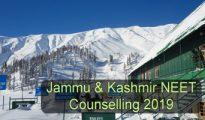 Jammu & Kashmir NEET Counselling 2019