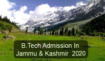 B.Tech Admission in Jammu & Kashmir 2020