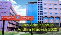 Law Admission in Andhra Pradesh 2020