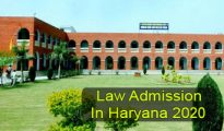 Law Admission in Haryana 2020