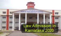 Law Admission in Karnataka 2020