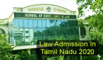 Law Admission in Tamil Nadu 2020