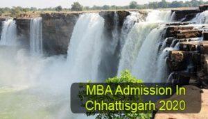 MBA Admission in Chhattisgarh 2020