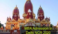 MBA Admission in Delhi NCR 2020