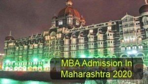 MBA Admission in Maharashtra 2020