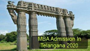 MBA Admission in Telangana 2020