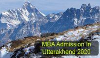 MBA Admission in Uttarakhand 2020