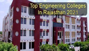 Top Engineering Colleges in Rajasthan 2021