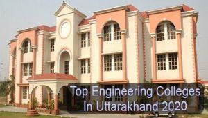Top Engineering Colleges in Uttarakhand 2020