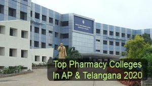 Top Pharmacy Colleges in AP & Telangana 2020