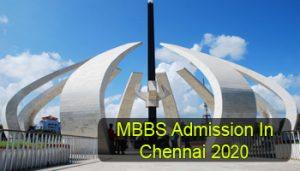 MBBS Admission in Chennai 2020