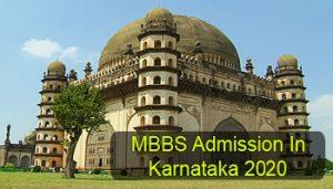 MBBS Admission in Karnataka 2020