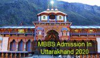 MBBS Admission in Uttarakhand 2020