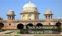 BTech Admission in Haryana 2020
