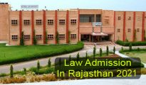 Law Admission in Rajasthan 2021