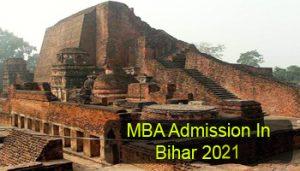 MBA Admission in Bihar 2021