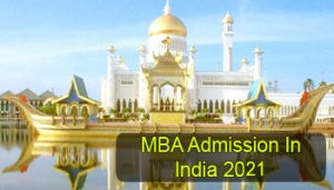MBA Admission in India 2021