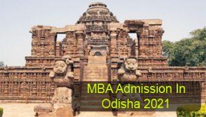 MBA Admission in Odisha 2021
